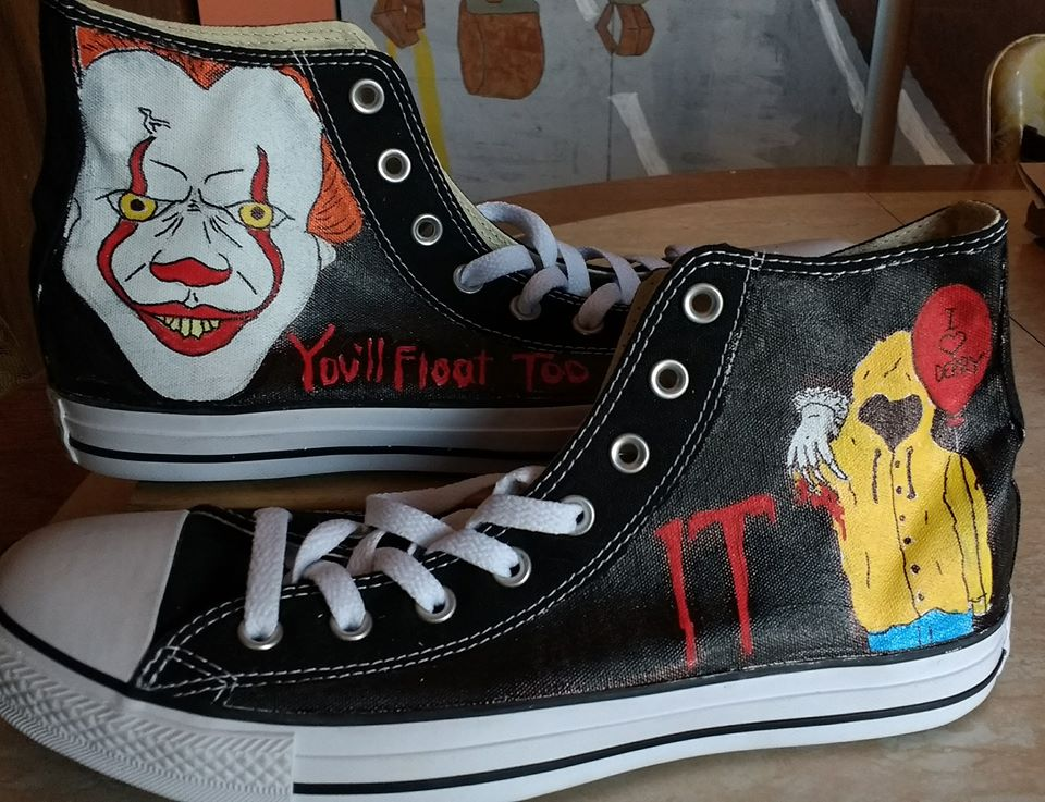 849a58f9a982d IT Pennywise hand painted Converse shoes from Heart and Soles