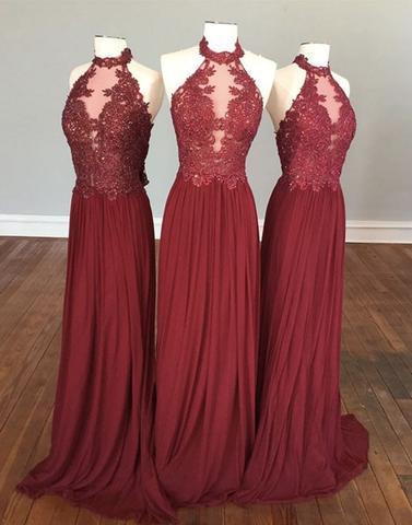 88cc0f2c75a29 cheap bridesmaid dresses,burgundy bridesmaid dresses,hight neck bridesmaid  dresses,lace bridesmaid dre