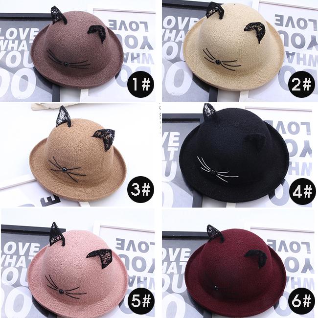 Cute Lace Kitty Ears Bucket Hat Kawaii · Goromiau · Online Store ... 38bcb367f20