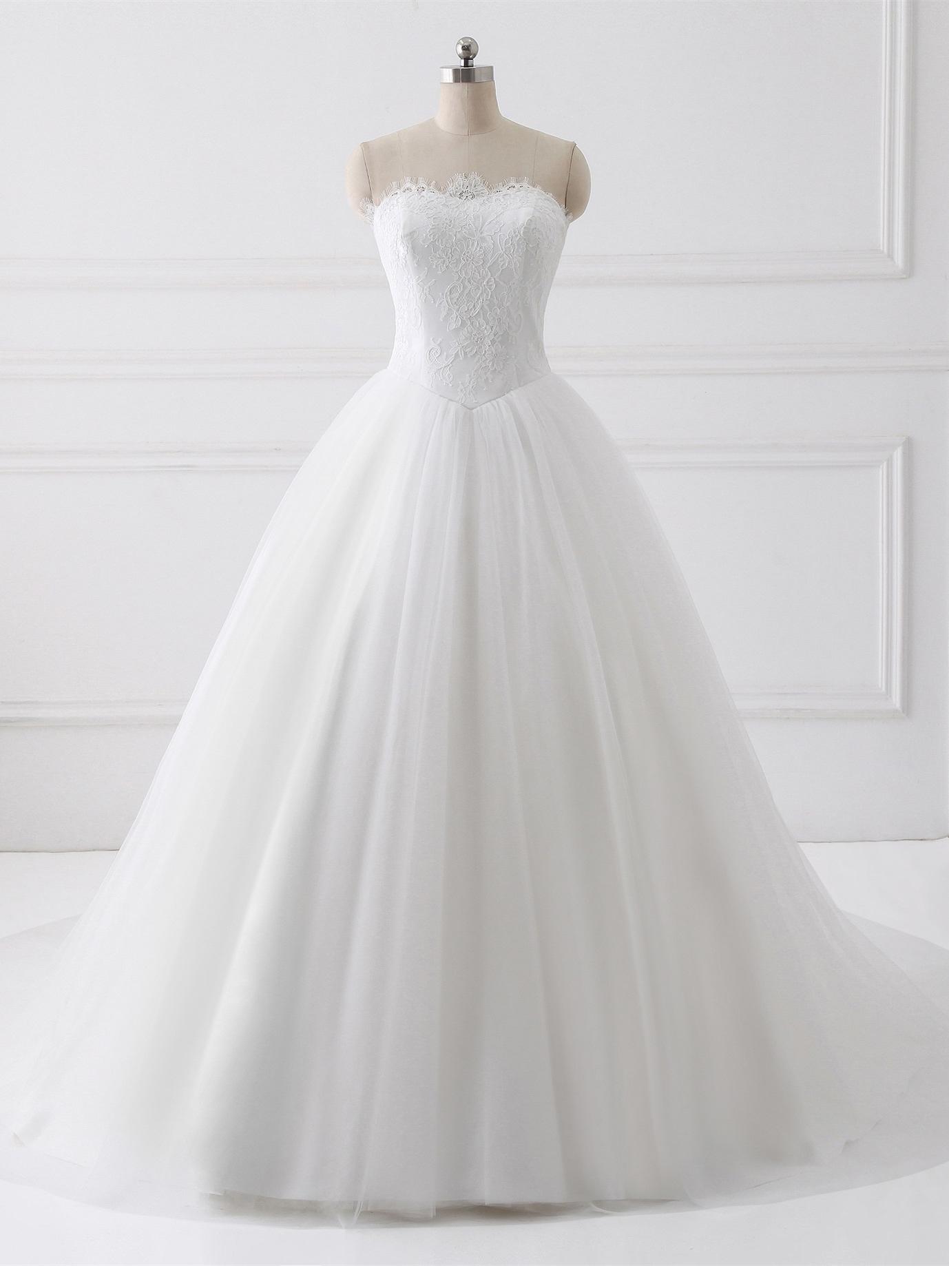 Princess Wedding Dresses Sweetheart Neckline