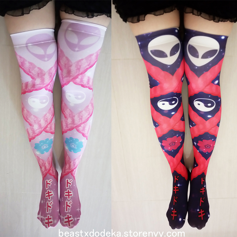 dde2520a9 LAST ONE! Shibari Galaxy Printed Stockings on Storenvy