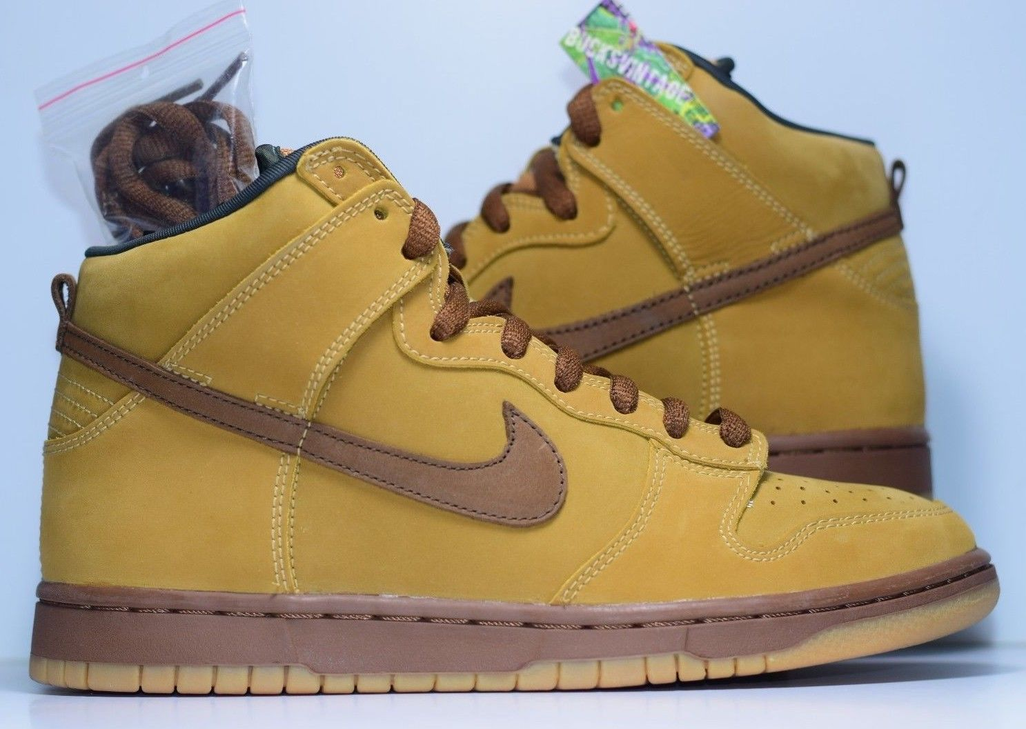 d9fdb3bf Size 8.5 | DS 2002 Nike Dunk SB WHEAT High 305050-221 · BucksVintage ...