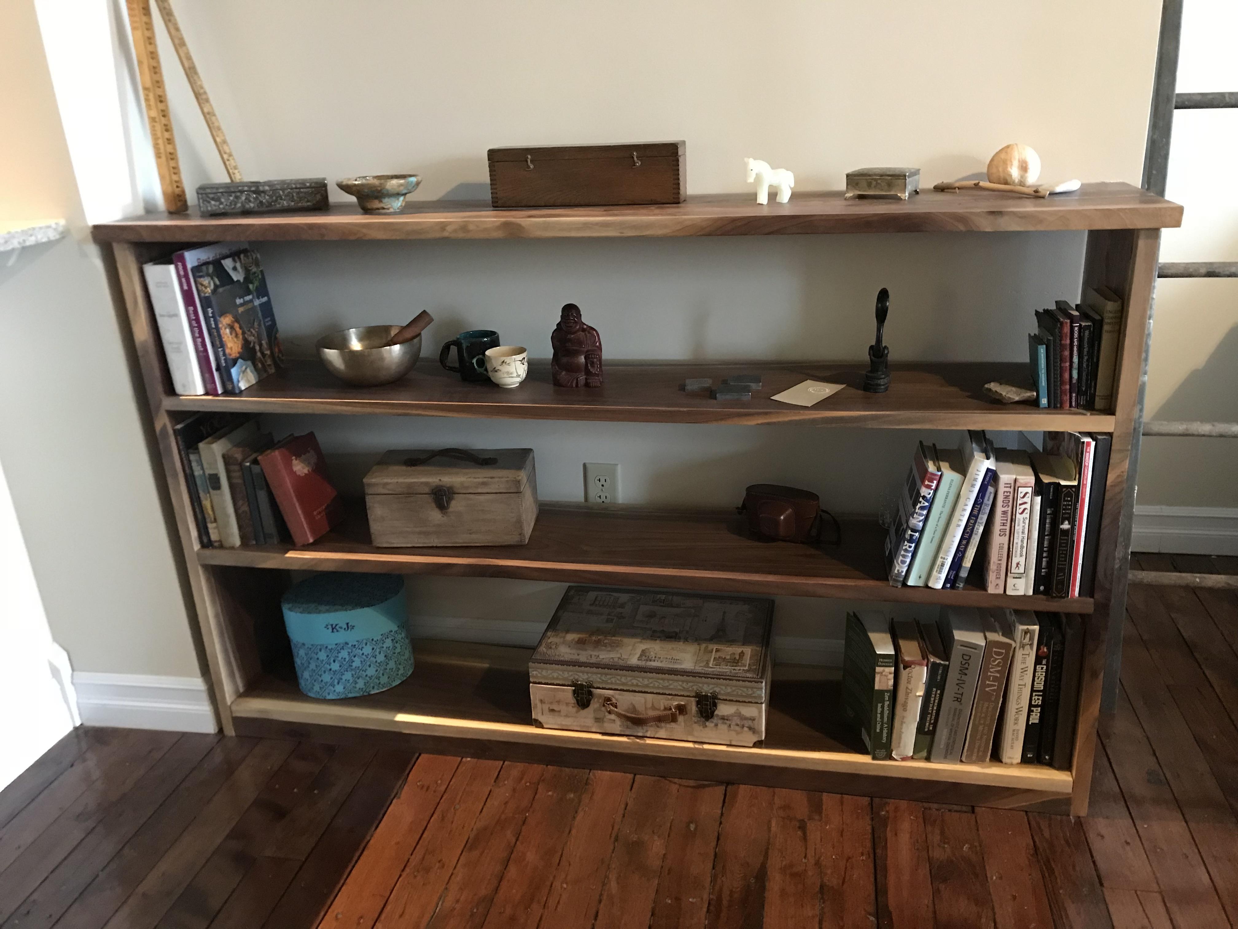 Black Walnut Bookshelf 1 6875 x 13