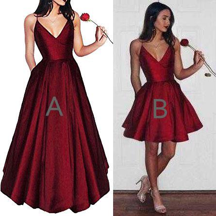 Special Shortfloor Length Dark Red Homecoming Dresses For Women On