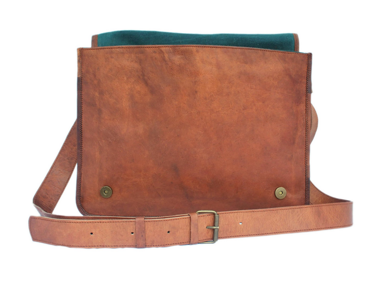 aa16184c7 Vintage brown leather messenger bag 15