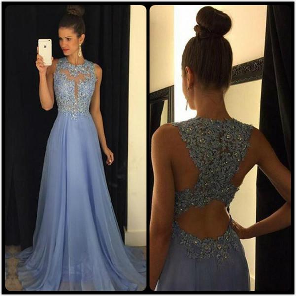 Charming Lavender Beading Long Chiffon Prom Dresses,Pretty Elegant ...