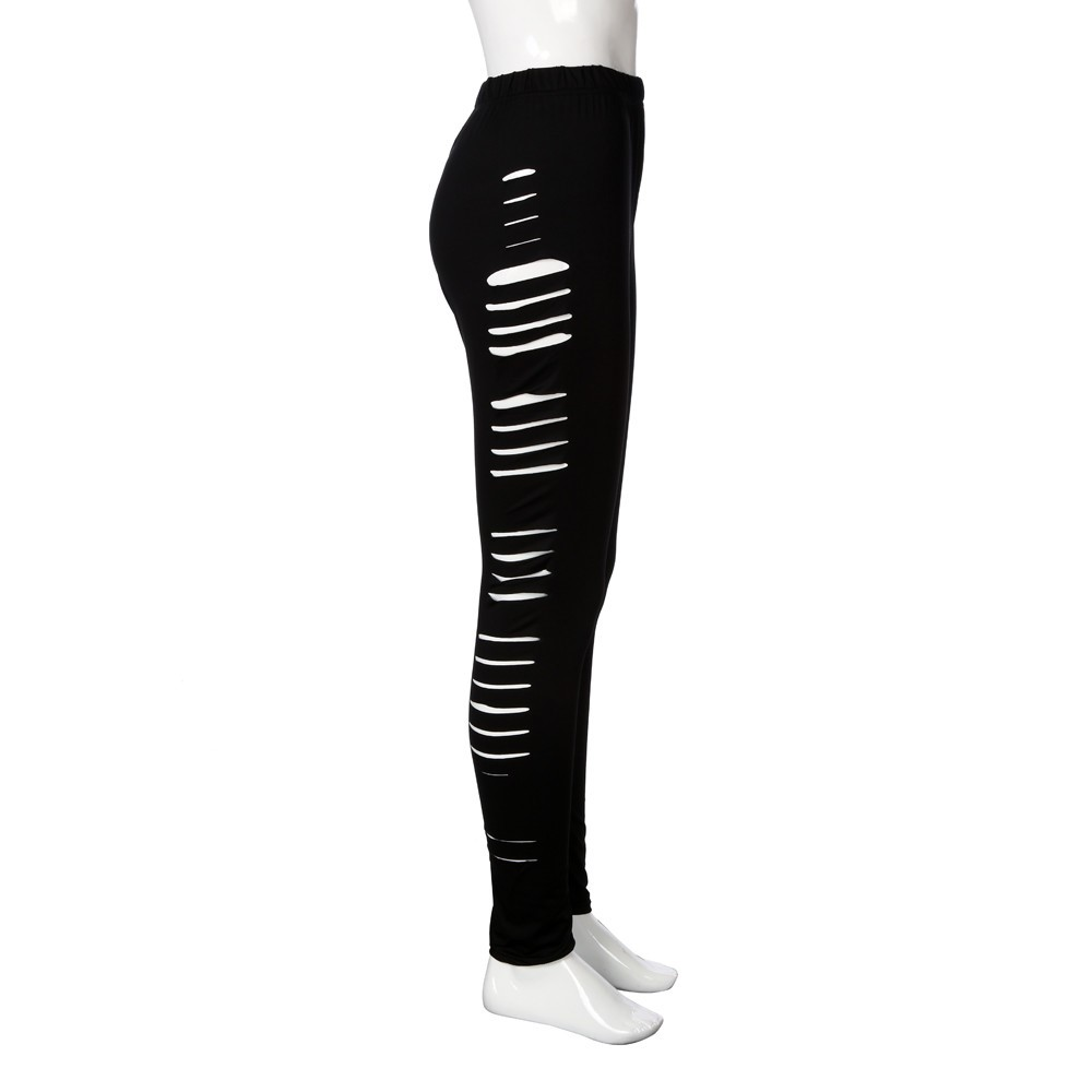 d24bc8f6 Women's Comfortable High Elastic Sexy Pencil Leggings with Side Holes