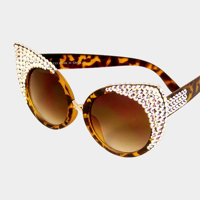 Abalone Leopard And Cat From Eye Print Brown Shades Trendyfashionbox Rhinestone Crystal Sunglasses XZiTlwuPOk