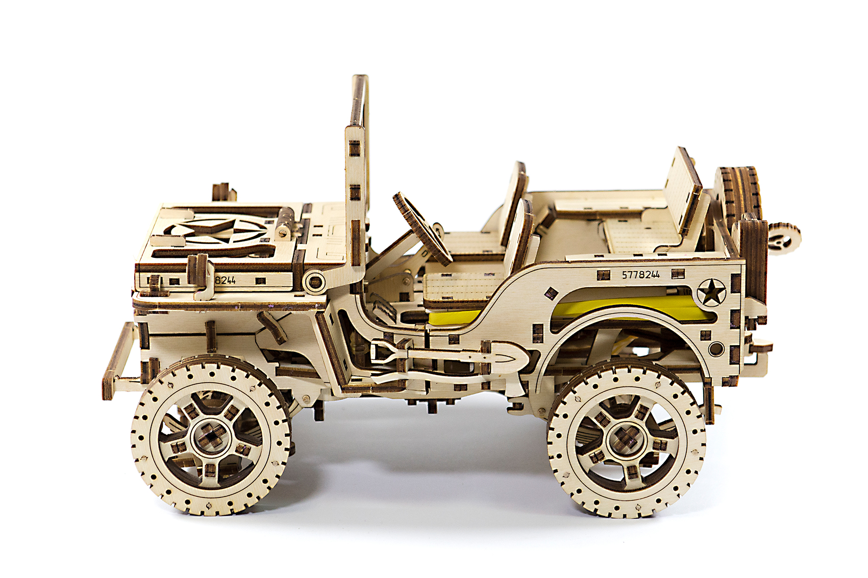 4x4 JEEP - WOODEN CITY 3D Mechanical Wooden Model from kidsrus