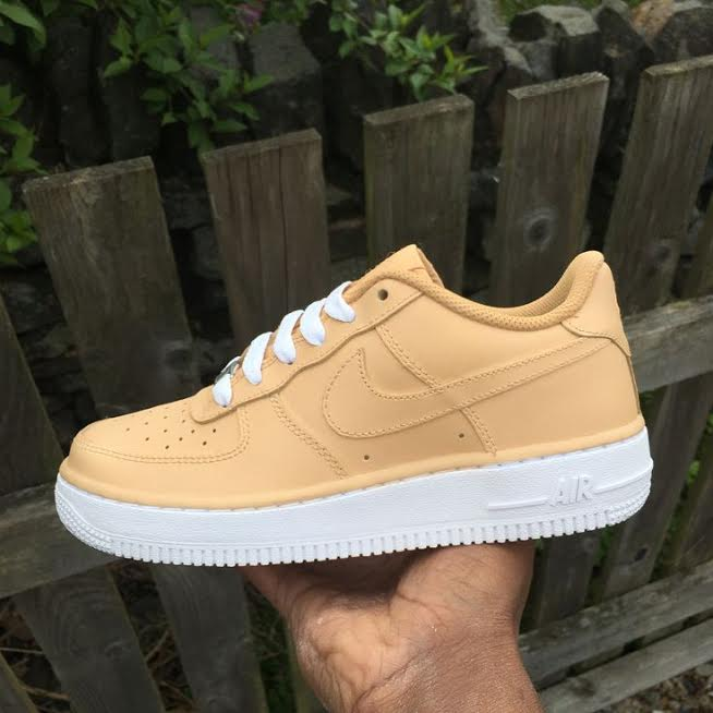 b3ad52748c48 Tan Cream   White Air Force One AF1 Low · SneakerSuperShop · Online ...