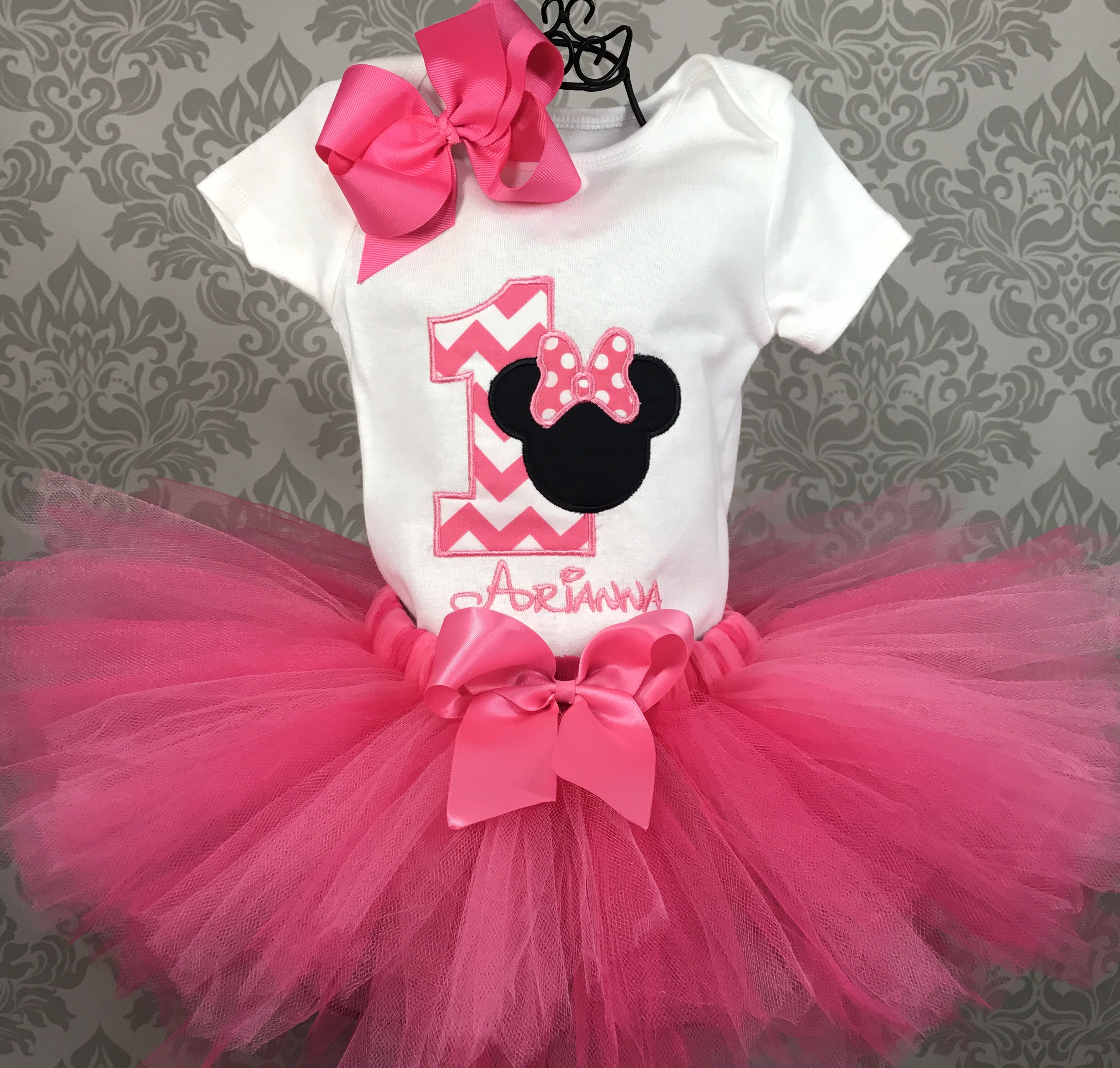 9823fca64 Minnie Mouse First Birthday Outfit Tutu and Hairbow on Storenvy