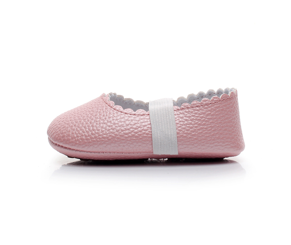 d46d6395407ba Pink Girls Dance Ballet Mary Jane Flats Dress Shoes Print Baby Moccasins  Hard Sole
