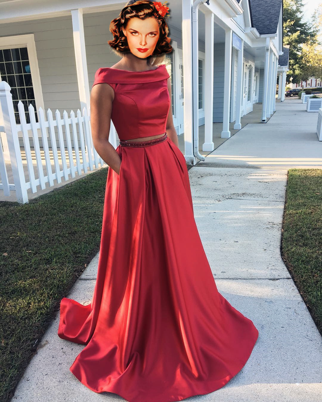 2aa84362d2 2 Piece Homecoming Dress With Pockets - Gomes Weine AG