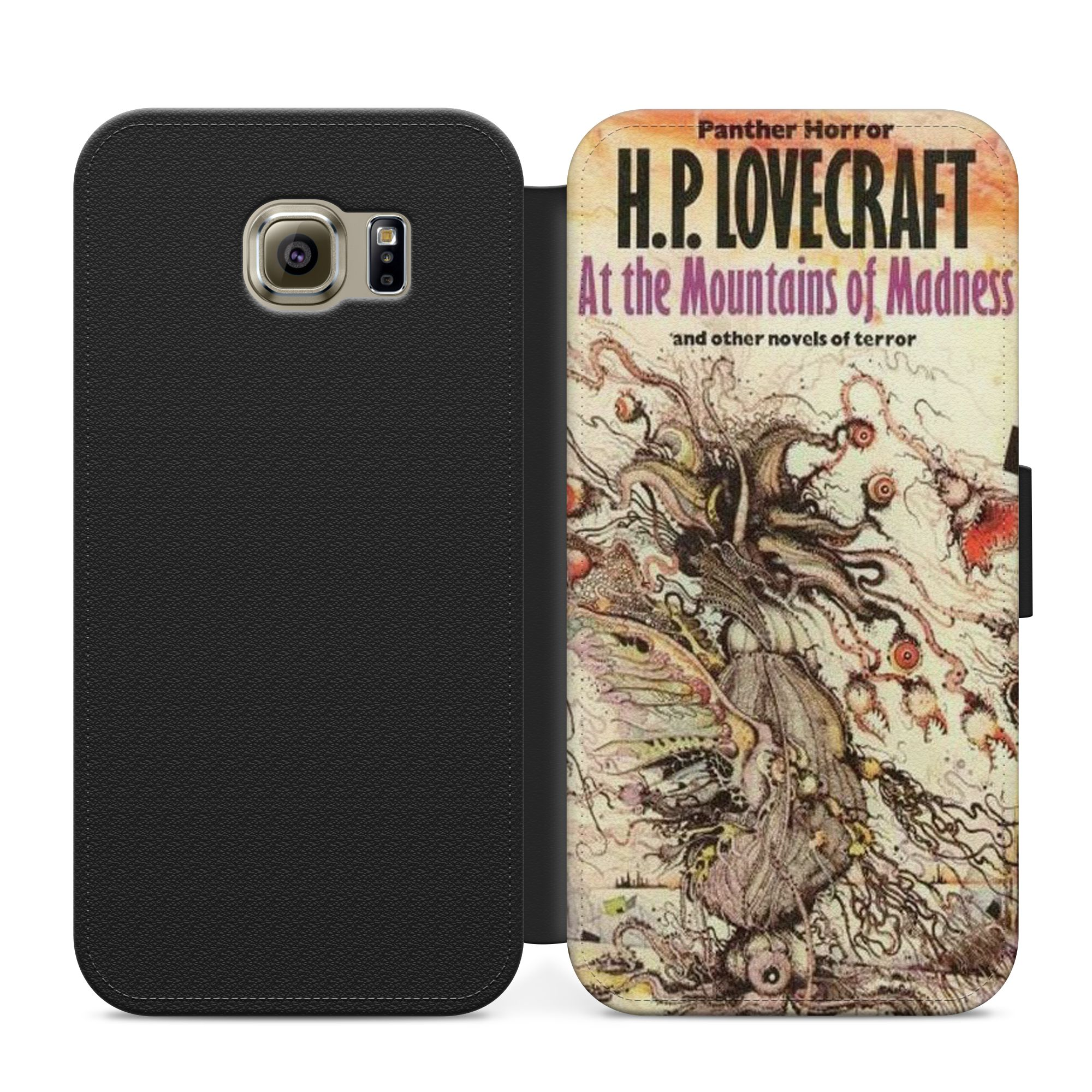 HP Lovecraft Mountains of Madness flip case for iphone 4/5/6/7/8 Samsung  S3/S4/S5/S6/S7/S8