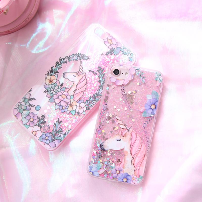 best loved 56a0e 640ad Unicorn water glitter iPhone case