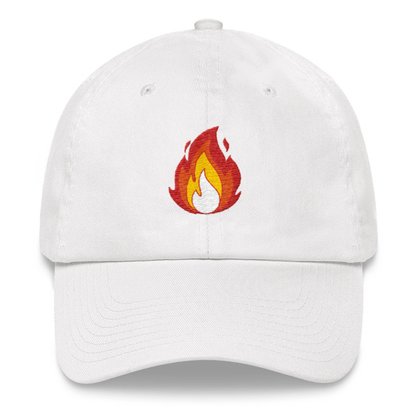 ada2ca8d2bb Fire Emoji Flame Dad hat on Storenvy