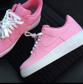 quality design c1a49 4f664 Pink   White Air Force One AF1 Low
