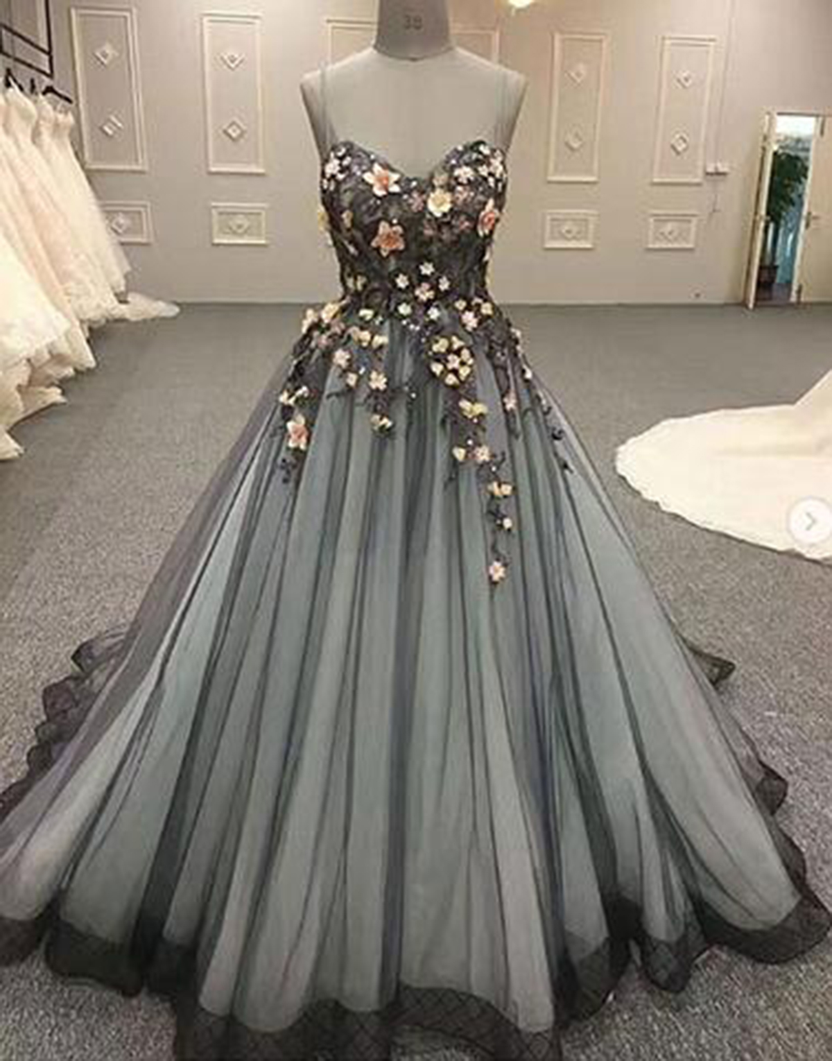 c73ceafa812 Cheap Prom Dresses by SweetheartDress · Sweetheart neck black tulle ...