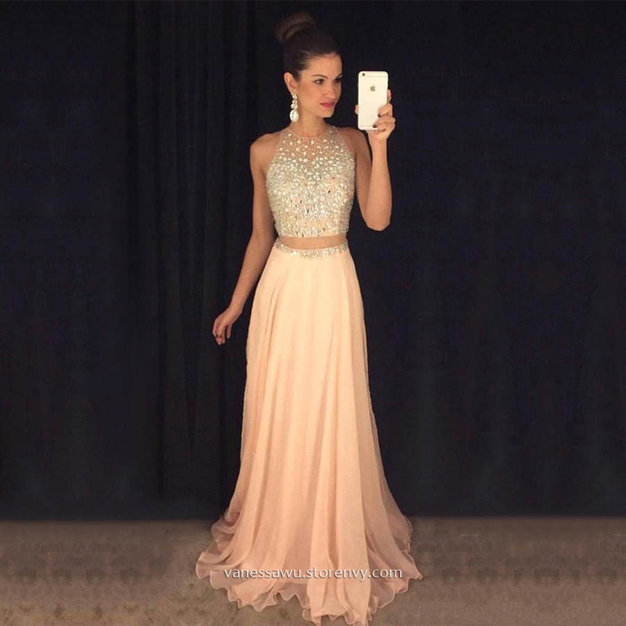 Scoop Neck Evening Dress