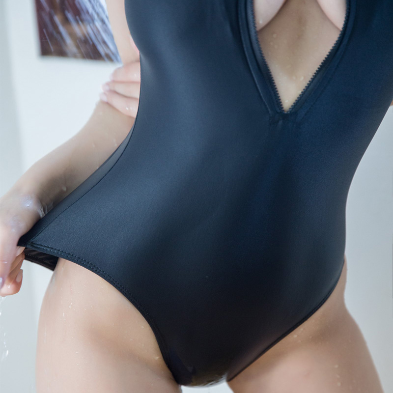 39e0f92e87364 Zip triangle one-piece swimsuit on Storenvy