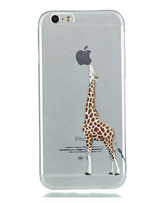 promo code b609e fcbbb iPhone Case - Giraffe Bite - Animal Case, Playing with Apple Logo Case