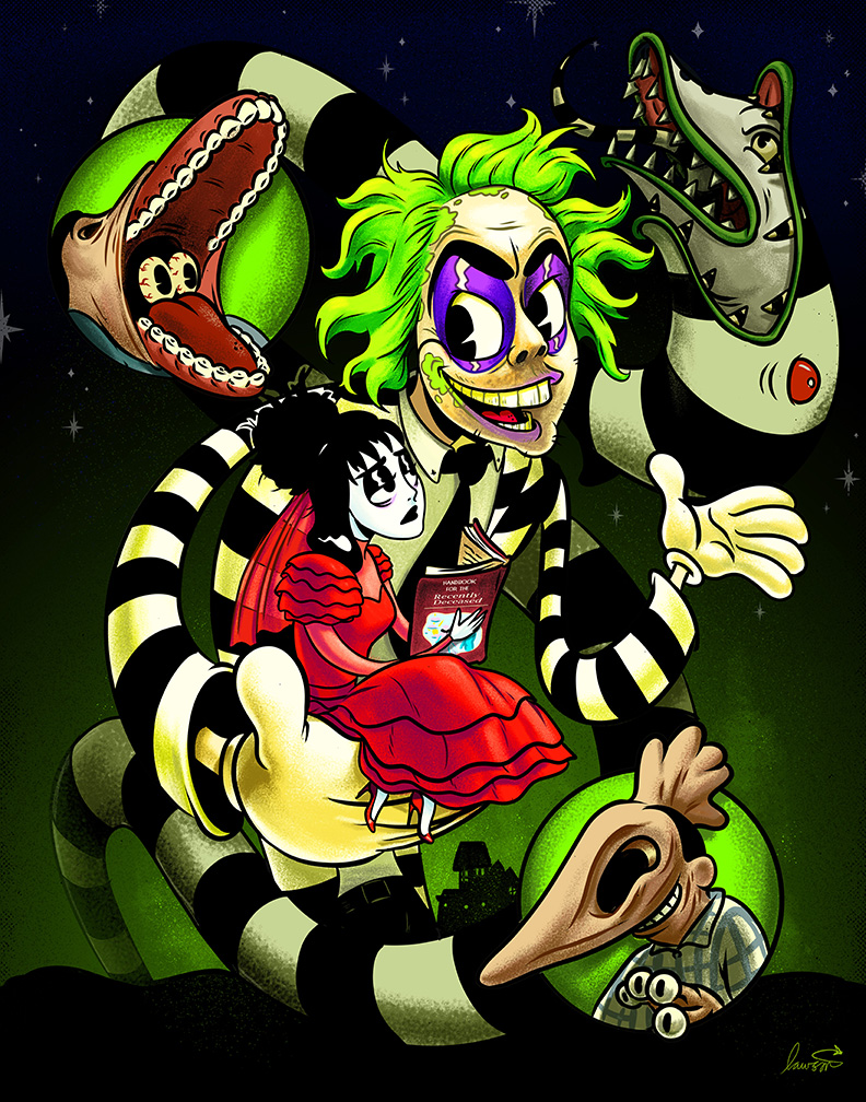 Beetlejuice Toon 11x14 Art Print Spicy Donut Shop Online Store Powered By Storenvy
