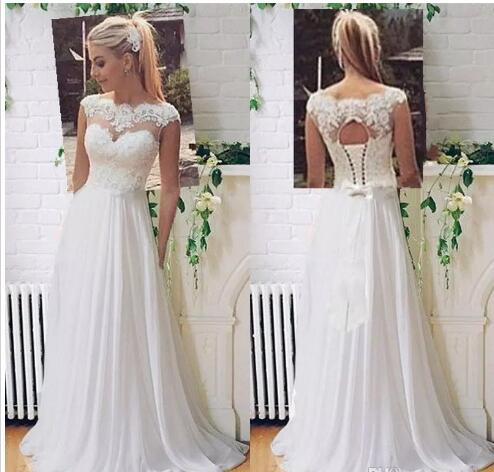Lace Vintage Wedding Dress.2018 Sexy Cheap Plus Size Vintage Wedding Dresses Bridal Gowns Lace Boho Beach Lace Wedding Dress