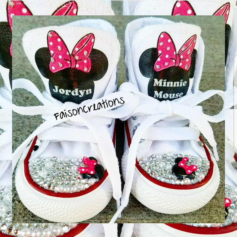 2f68528bcd6a5f Custom Minnie Mouse Converse · FaisonCreations · Online Store ...