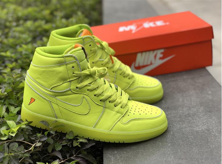 2018 Cyber Air Jordan 1 Retro High OG Gatorade Lemon Lime Shhoes