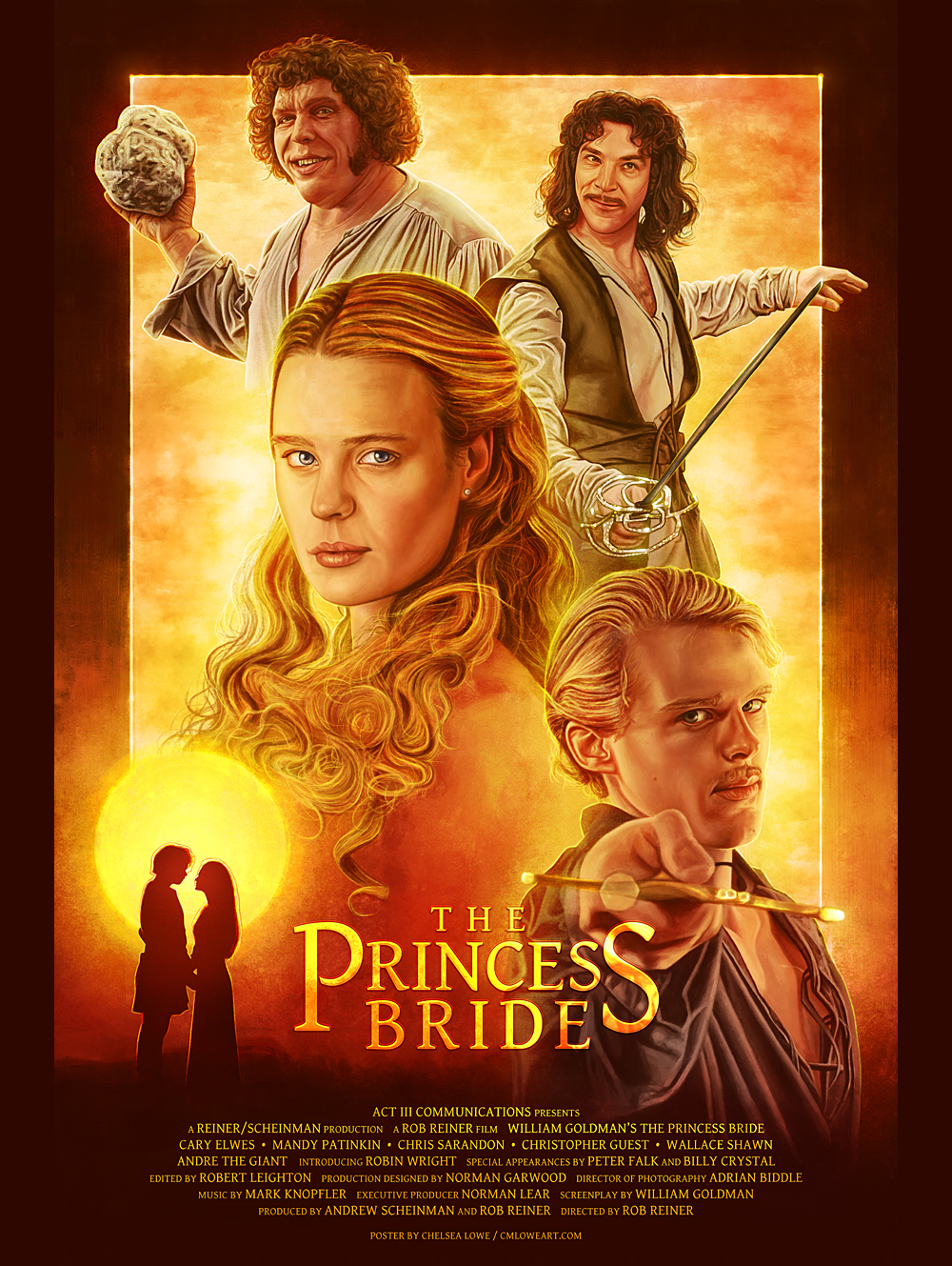 18 x 24 POSTER - The Princess Bride sold by Chelsea Lowe Illustration on  Storenvy