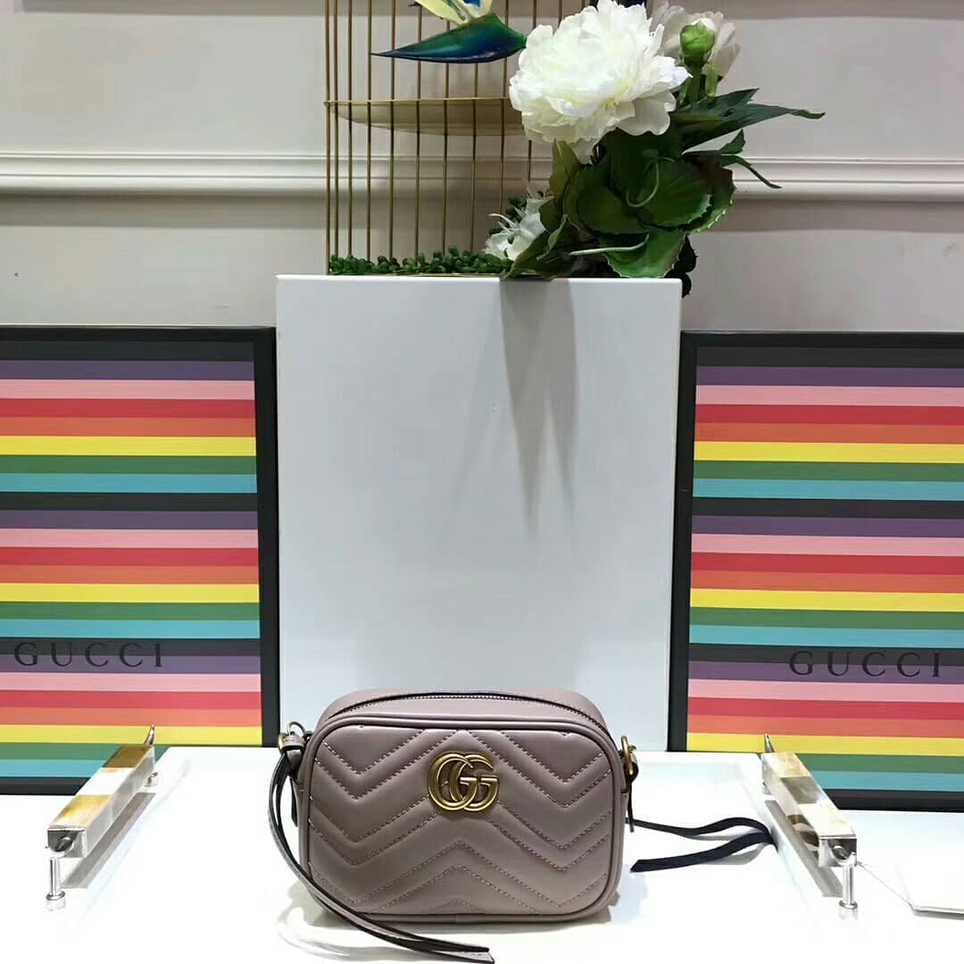 3f08b00665f8 ... GUCCI GG MARMONT MINI QUILTED LEATHER CROSS-BODY BAG - Thumbnail 3 ...