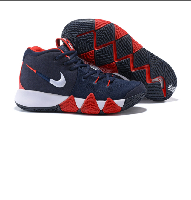 sale retailer d4068 461c8 New Arrivel Nike Kyrie Irving 4 Navy Blue White Red Men's Basketball Shoes  from Self Love Boutique