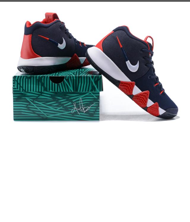 6a07b605b899 ... New Arrivel Nike Kyrie Irving 4 Navy Blue White Red Men s Basketball  Shoes - Thumbnail 4