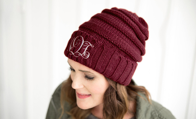 f35a84115d4da Adult Personalized Beanie Hats from Qualtry