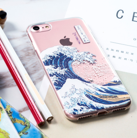 best sneakers b4f12 b4894 The Great Wave Off Kanagawa Katsushika Hokusai Relief Phone Case Soft Case  Free Shipping