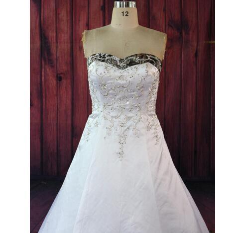 Camo White Wedding Dresses 2019 Sparking A Line Embroidery Vestidos