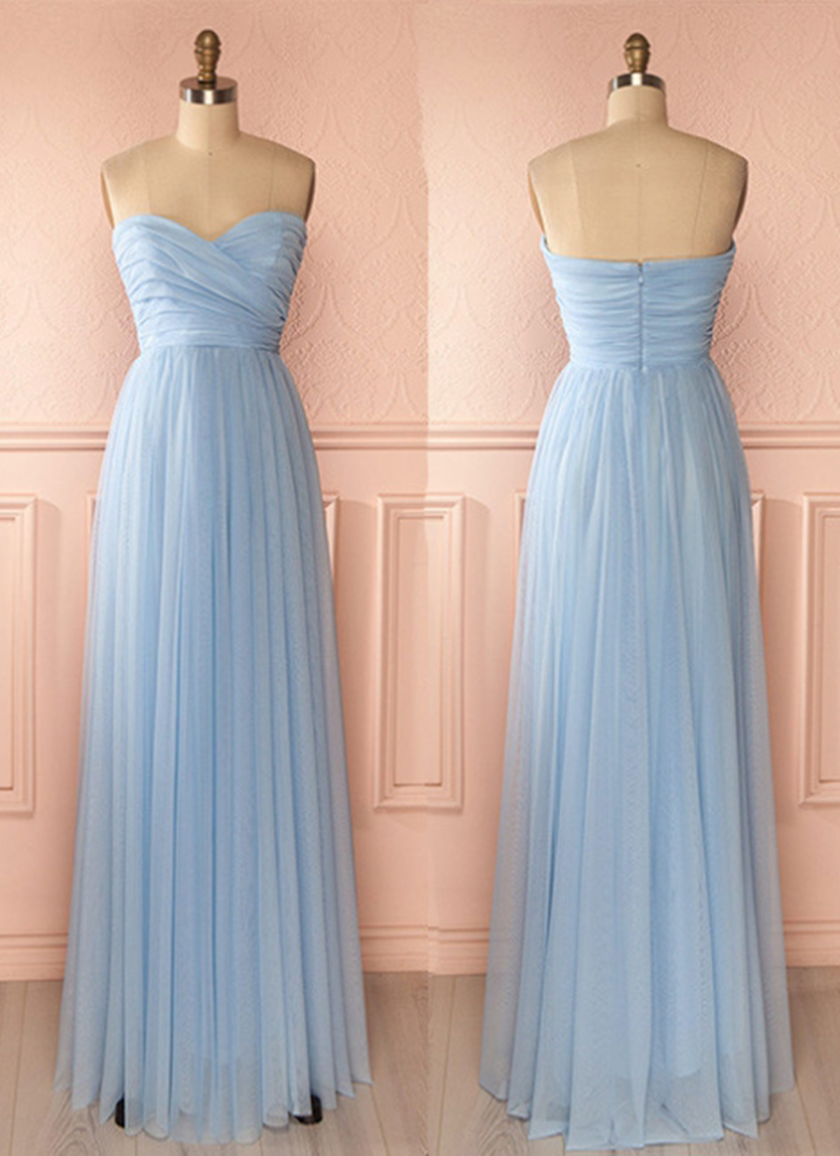 8d6c866aae8 Cheap Prom Dresses by SweetheartDress · Sweetheart neck baby blue ...