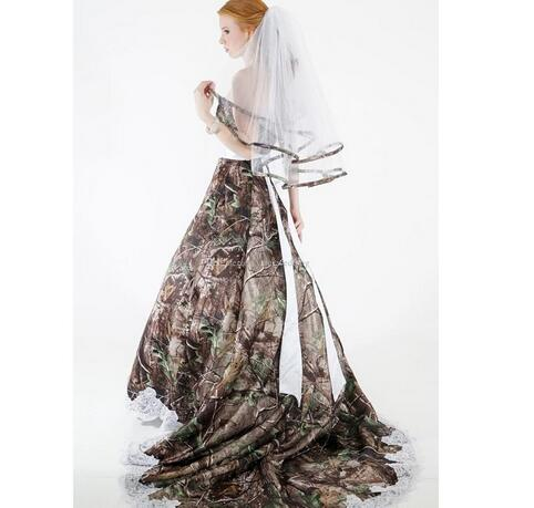 Camouflage Wedding Dresses.Modest Camo Wedding Dresses Strapless Appliques Backless Camouflage Country Wedding Gowns Brush Train Bridal Dresses From Misszhu Bridal