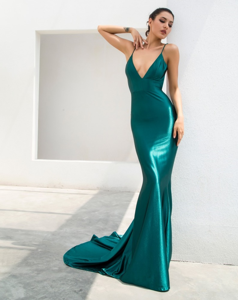 b9f5e3fb203 Emerald Green Evening Gown on Storenvy