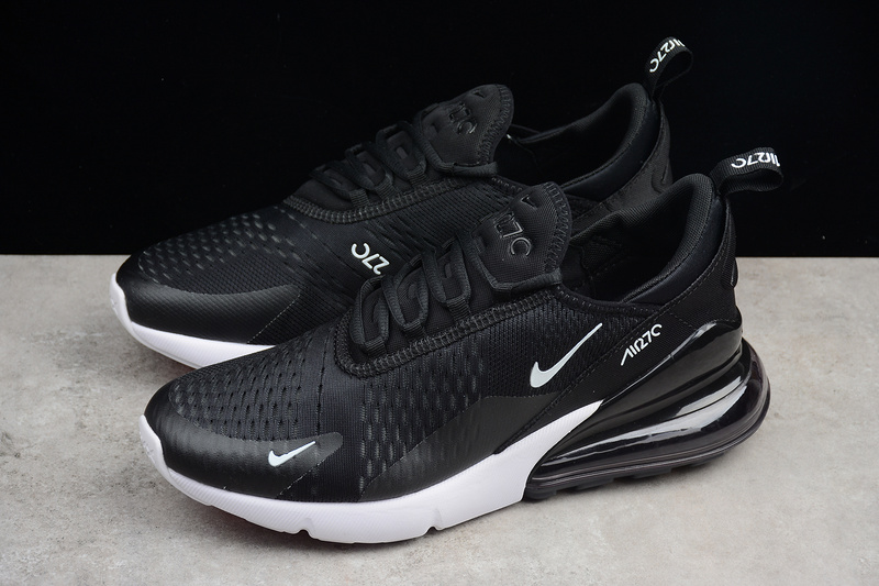 77feb6561be35 ... Nike Air MAX 270 Black/white Running Shoes AH8050-002 - Thumbnail 4