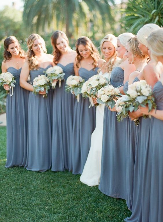 Beautiful A-line Chiffon Sweetheart Floor Length Bridesmaid Dresses ...