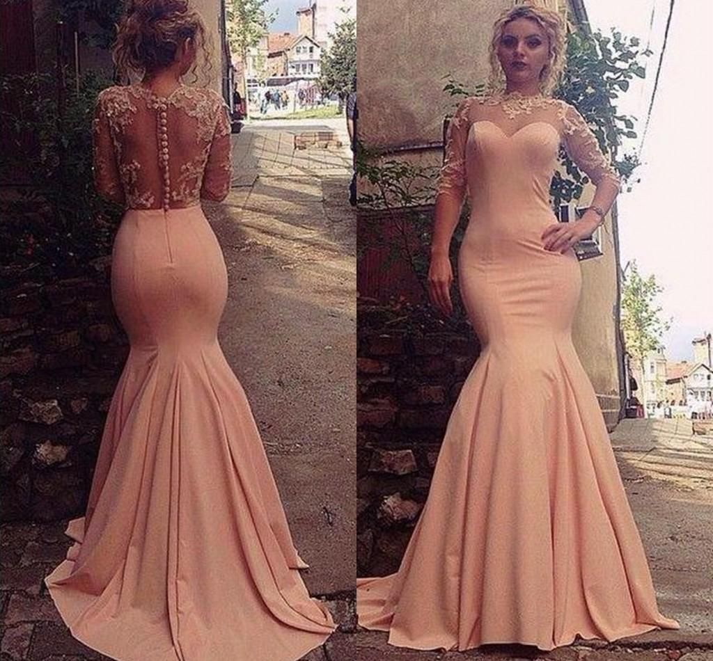 Stunning Prom Dress pink prom gowns long evening gowns for teens on ...