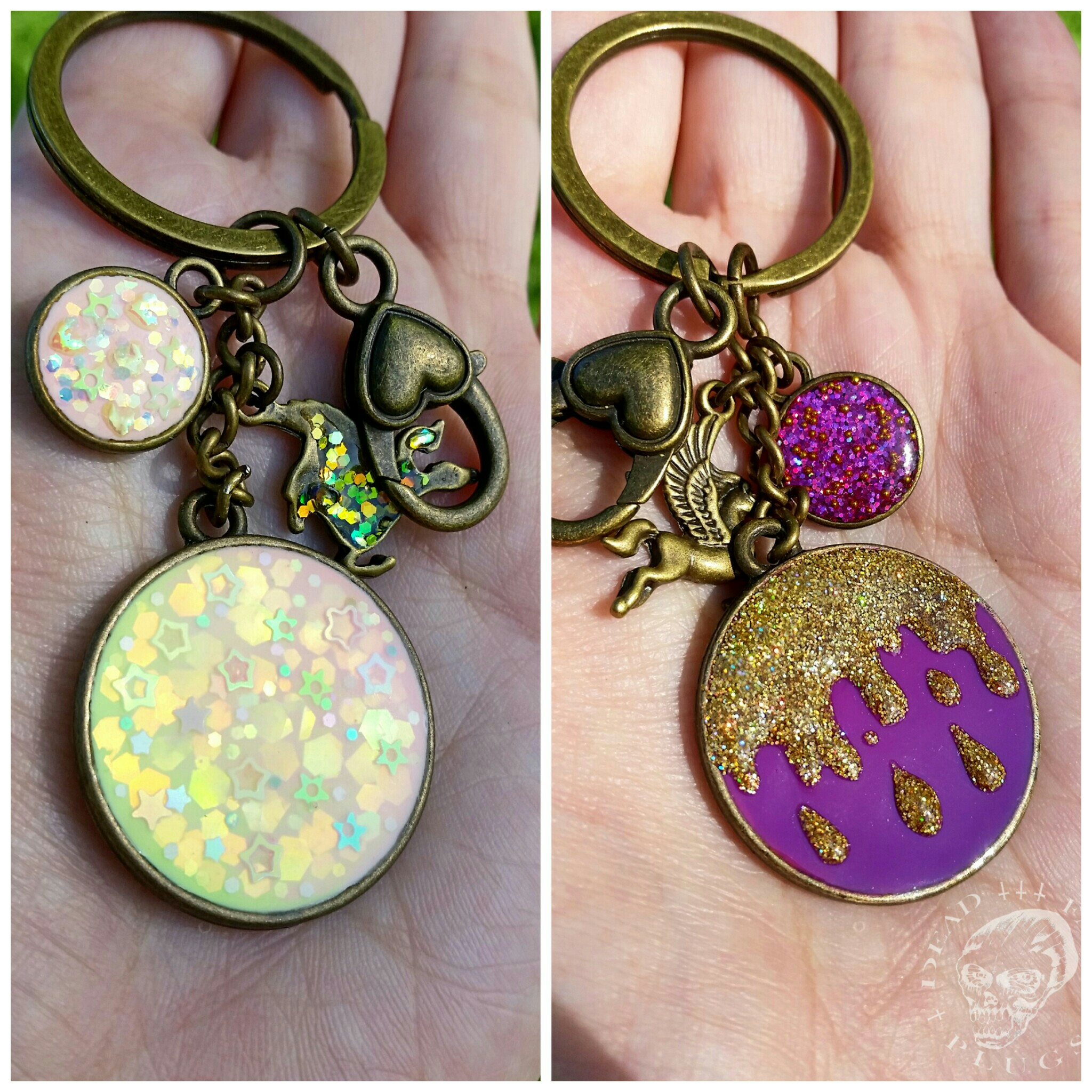 Keychain Tropical Sorbet / Gold Icing from DEAD FACE PLUGS