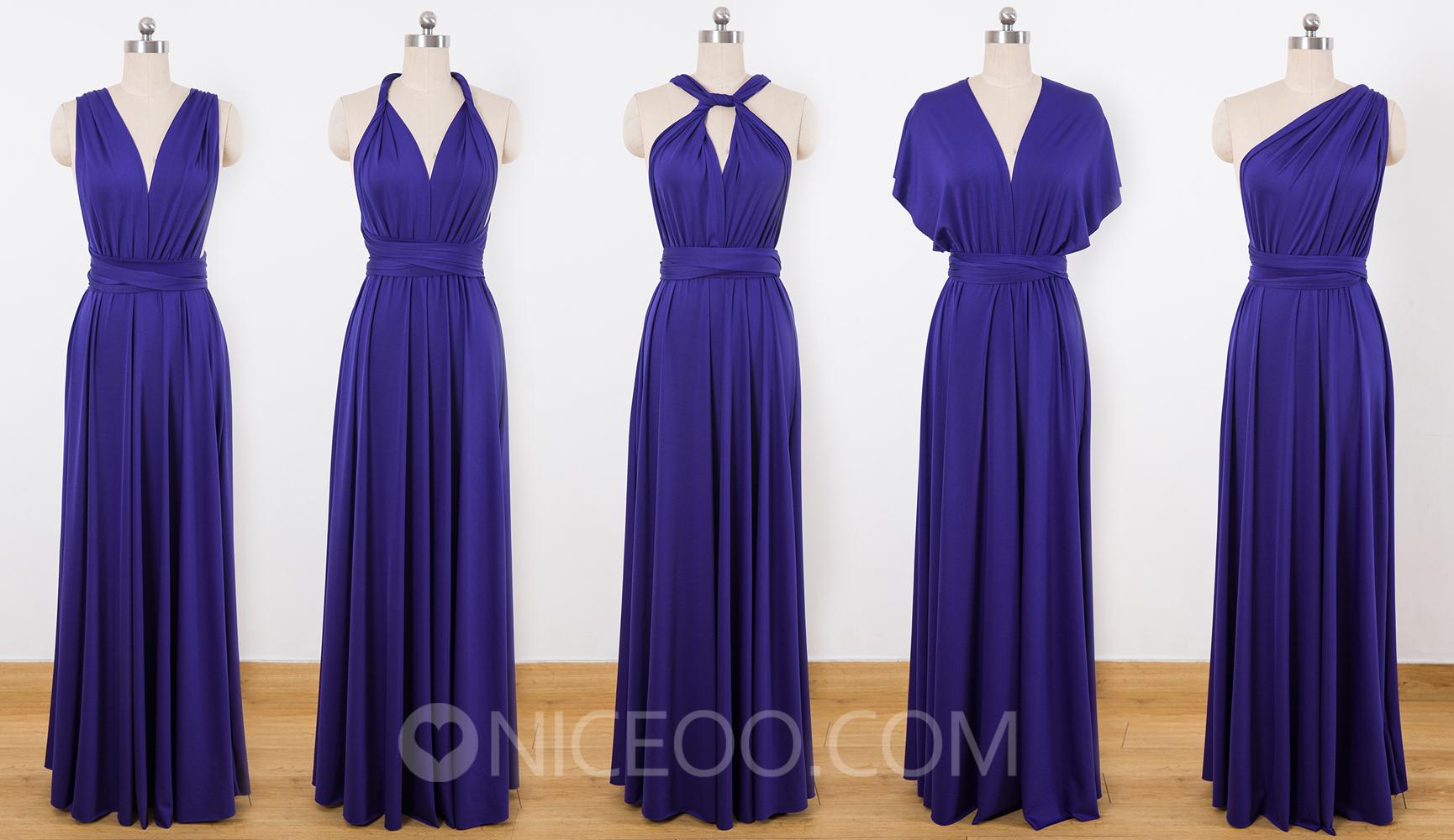 Convertable Bridesmaid Dress, Multiway Wrap Dress, Purple Infinity ...