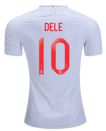 c5a62aa0ce7 Dele  10 England Jersey World Cup 2018 Men s National Team Home Soccer Shirt  White