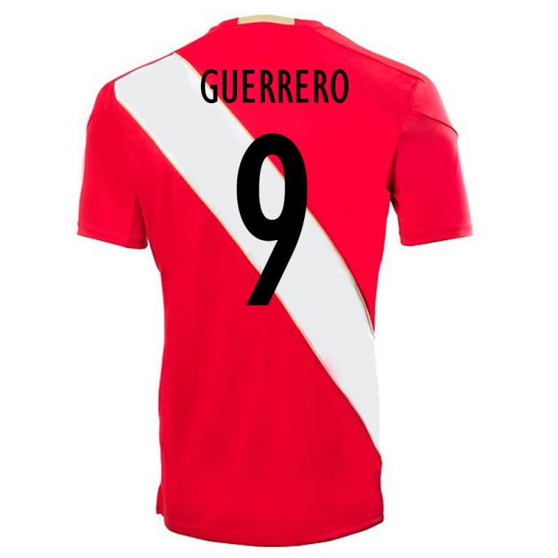 GUERRERO  9 Peru Jersey World Cup 2018 Away Soccer Men Shirt Red on Storenvy de06e803f