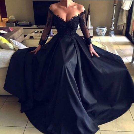 f8adf780da2 Black Satin Gowns – Fashion dresses