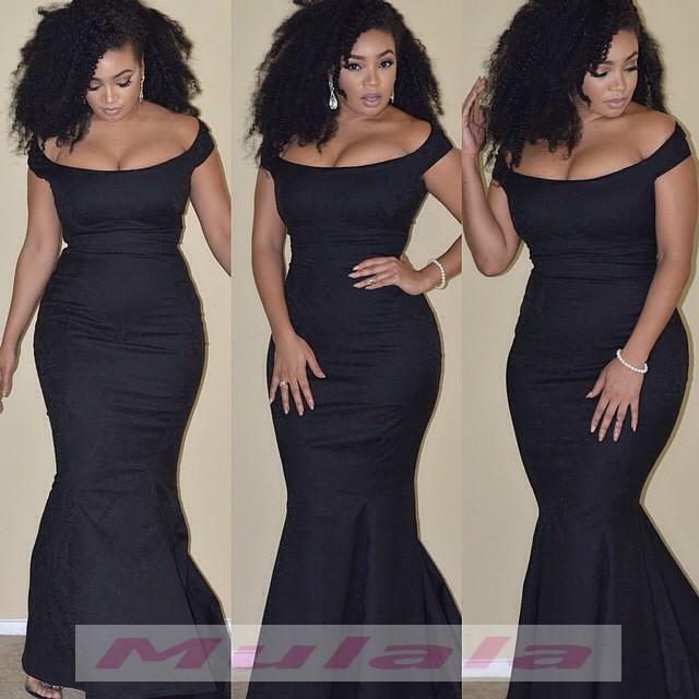 Black Girl Plus Size Prom Dresses 2018 African Off The ...