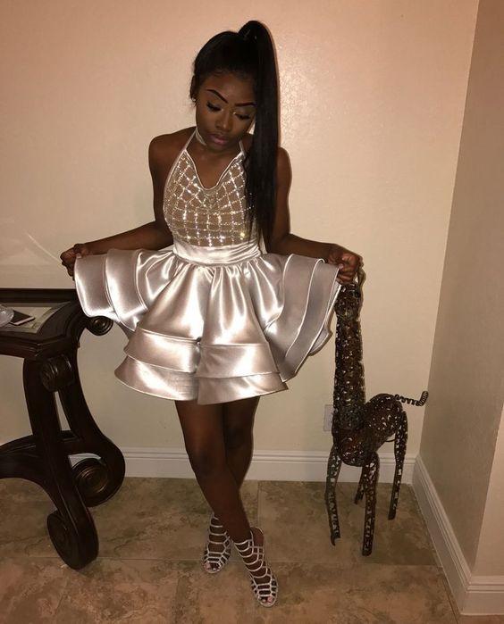 Black Short Prom Dresses for Girls