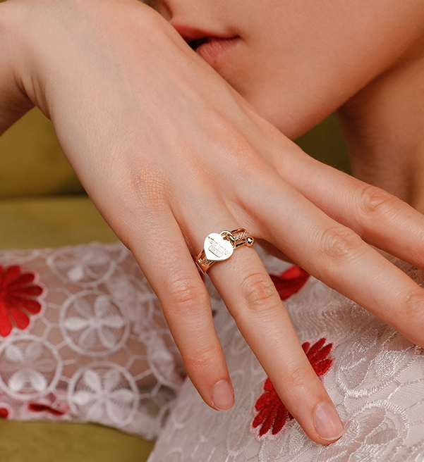 f6e0932aef7fc Opening heart ring adjustable rings joint rings stackable rings from Mowte